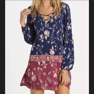 Billabong just like you floral shift tunic dress